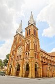 Basilica of Our Lady of The Immaculate Conception or Saigon Notre-Dame Basilica in Ho Chi Minh City,