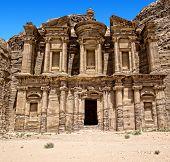 stock photo of petra jordan  - Ancient temple in Petra - JPG
