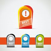 Best product oval tag in different color variations