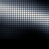Metallic colored dark mosaic background.