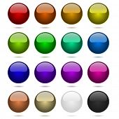 Color balls set isolated on white.