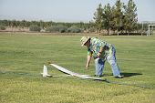 Retrieving RC Glider