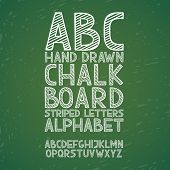 Blackboard chalkboard Chalk hand draw doodle abc, alphabet grunge scratch type font vector illustrat