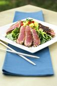 Seared Sesame Tuna Salad With Citrus Salsa