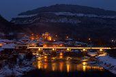 Veliko Tarnovo, Bulgaria, Bishop Bridge, Night View