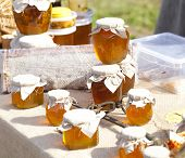 Exhibition sale of natural honey