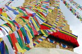 Bodhnath Stuba and Colorful religion streamer in Kathmandu,Nepal