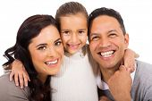 close up portrait of happy family