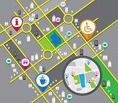 Vector cbstract city map