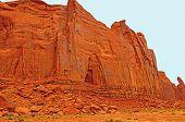 Sandstone Cliffs In The Desert