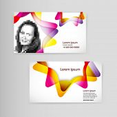 Sample business card with space for your text and photos.
