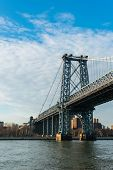 Manhattan bridge on summer day