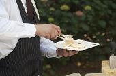 Waiter Serving Cheese