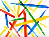 Abstract colorful paint strip background.