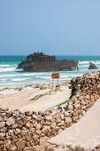 Costa De Boa Esperança with Shipwreck Cabo Santa Maria - Boavista, Kapverden