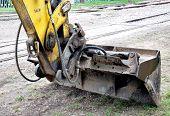 view on excavator dredge at