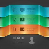 Modern Vector Infographics Set. 3D Banners Chart Diagram.