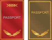 stock photo of passport cover  - vector image set of covers of the passport - JPG