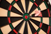 Dart Board Bulls Eye Center Strike.