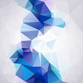 Blue Polygonal Mosaic Background, Vector Illustration,  Business Design Templates