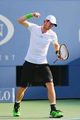 Grand Slam Champion Andy Murray during US Open 2014 round 4 match against Jo-Wilfried Tsonga