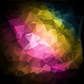 Multicolored Polygonal Mosaic Background, Vector Illustration,  Business Design Templates