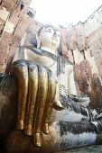 picture of chums  - Phra Achana in Wat Si Chum at Sukhothai Historical park - JPG