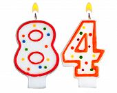 Birthday Candles Number Eighty Four