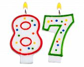 Birthday Candles Number Eighty Seven