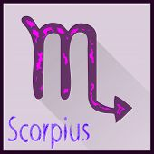 Scorpius Zodiac sign vector illustration