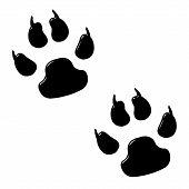 3D Dog Foot Prints