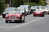 old car Austin Healey 100/6 BN4 1957 mille miglia 2014