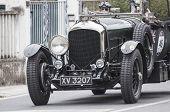 old car Bentley4.5 Van de Plas open tourer 1928 mille miglia 2014