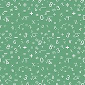 Maths seamless pattern