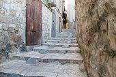 Ancient Street In Jerusalem