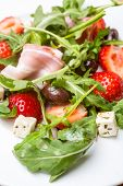 Fresh Healthy Vegetable and Fruit Salad