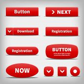 Red Plastic Internet Buttons