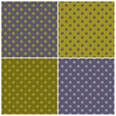 Tile vector dark polka dots pattern set