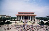 Mausoleum Of Mao Zedong In Tienanmen Square In Beijing