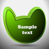 Abstract Green Speech Bubble