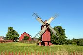Windmill In Aland Islands.