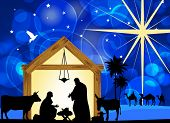 foto of nativity scene  - Christmas Christian nativity scene - JPG