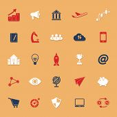 Startup Business Classic Color Icons With Shadow