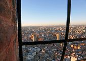 Fantastic Panoramic Views Of The City Of Bologna From The  Window Of Tower