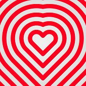 Red Abstract Heart Sign
