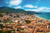 Cefalu Residential District Near The Sea