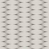 Seamless wavy lines monochrome vector pattern.