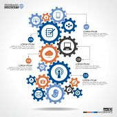 pic of globalization  - Abstract background with a set of gears - JPG