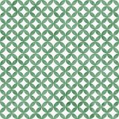 Green And White Interconnected Circles Tiles Pattern Repeat Background