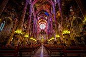 Interior Of Cathedral Of Santa Maria Of Palma (la Seu) In Palma, 18.07.2014